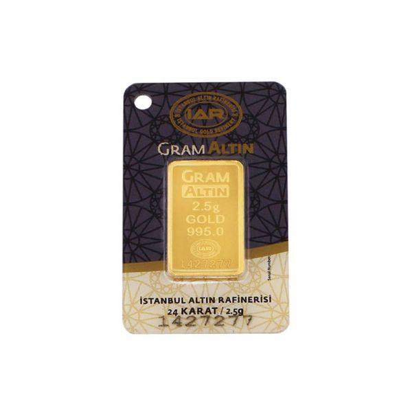 2.5 gram 24 Ayar Altın