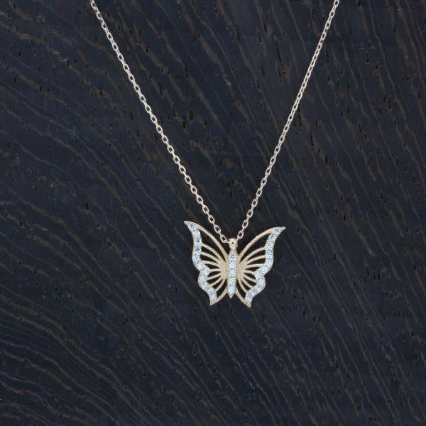 Kelebek Altın Kolye