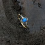 Opal Taşlı Altın Yüzük