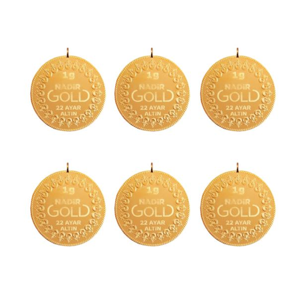 6 Gram 22 Ayar Kulplu Altın