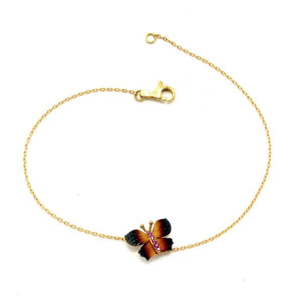 22 Ayar Altın Kelebek Bileklik