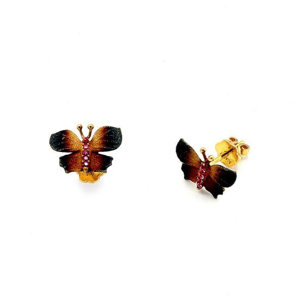 22 Ayar Altın Kelebek Küpe
