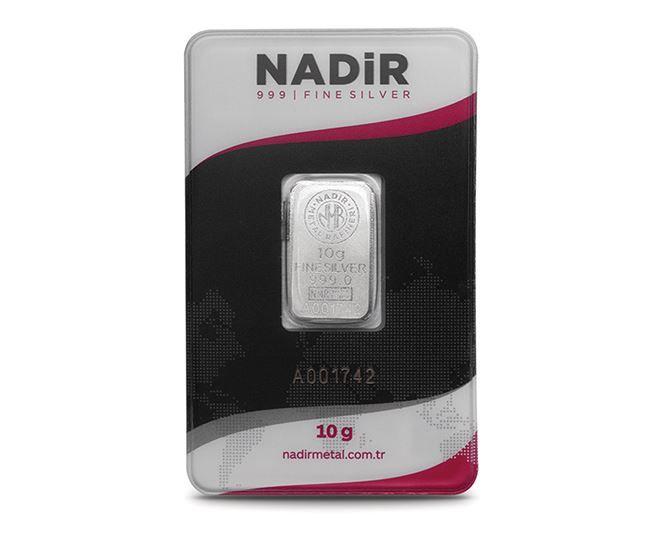10 Gram Gümüş Külçe