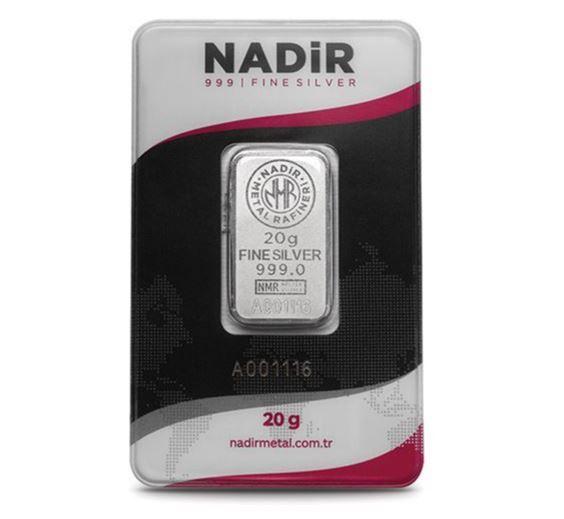 20 Gram Gümüş Külçe