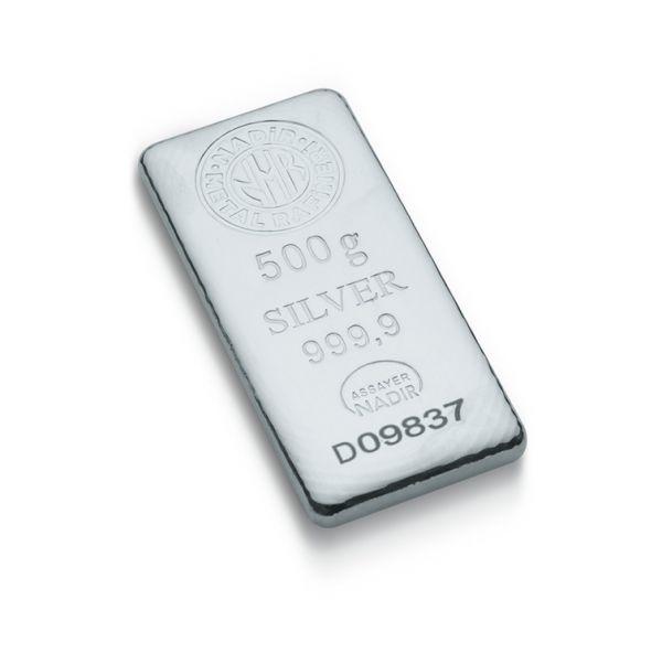 500 Gram Gümüş Külçe