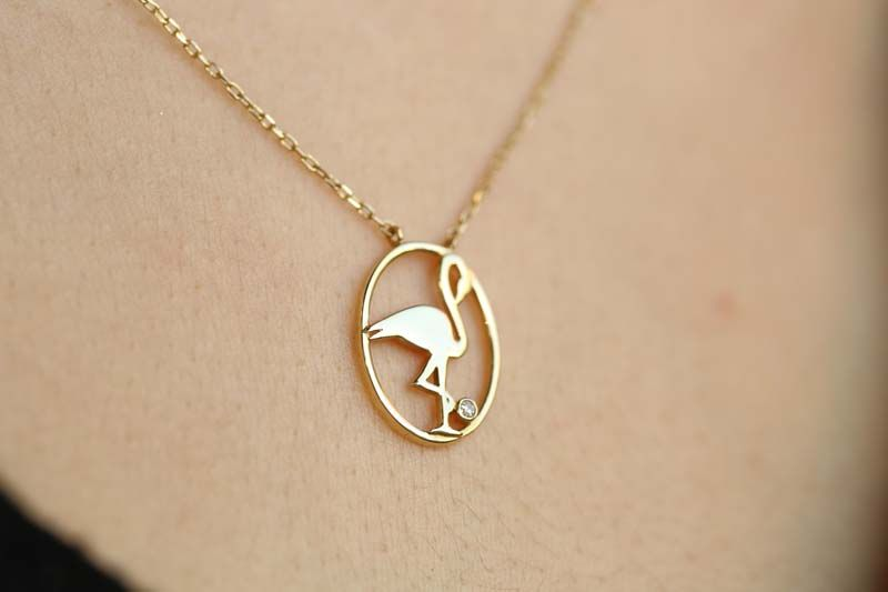 Flamingo Altın Kolye