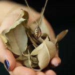 14 Ayar Yaprak Altın Kolye