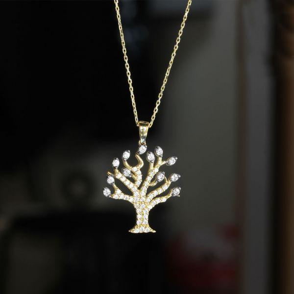 Hayat Ağacı Altın Kolye